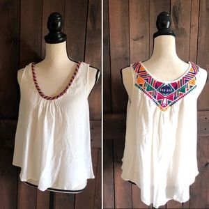 LOVE SAM Beaded Embroidery Tank
